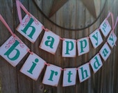 Custom Happy Birthday Double Garland Banner With Age / Boy / Girl / Adult / Any Theme / Great for 1st  or 50th Birthdays