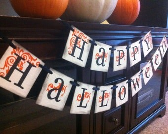 Halloween Decoration Happy Halloween Banner For Halloween Party Decor and Fall Decorations / Party and Decorations