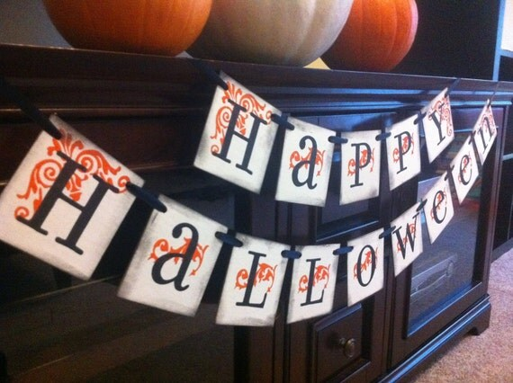 Halloween Decoration Happy Halloween Banner For Halloween Party Decor and Fall Decorations / Party and Decorations