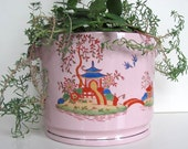 Vintage Hand Painted Ceramic Planter