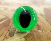 Neon Green Cat Eye Ring