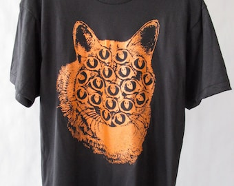 Black and Orange Mutant Cat T Shirt
