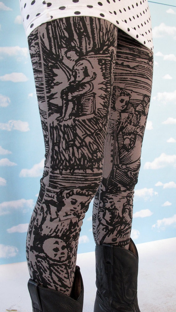 Gray Witch Leggings SMALL