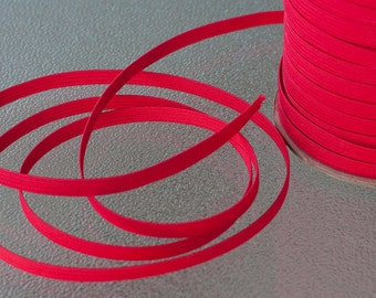 "1/4"" Elastic for Baby Headbands in Red - 5 YARDS"