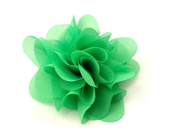 Spring Green Chiffon Flower  - Anna Collection