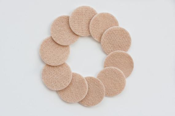 Adhesive Felt Circle backings for Baby Headbands - Pack of 10 Beige Felt Cirles