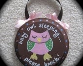 Baby Owl Baby Sleeping Sign