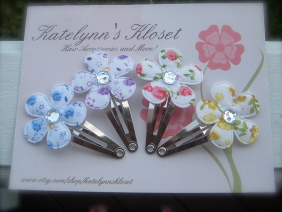 Boutique Style Baby Toddler Girl Flower Bouquet Snap Clips