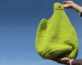Eco-Friendly Farmers Market-Summer Crocheted Tote in Pear Green