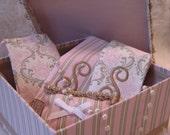 Bride/Bridesmaids Gift Set, Shoe and Hoisery Bag, Lavender Sachet, and Shoe/Veil/Keepsake Box