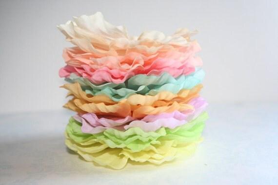 Pastel Silk Flower Petals Set of 24 DIY Silk Flower Petals 8 Shades PASTELS Colors of the Rainbow