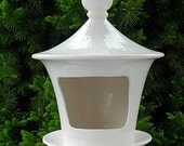 Bird House Bird Feeder  -  Classic White