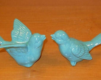 "Love Birds Wedding Cake Topper  -  ""Aqua Fresca"" glaze"