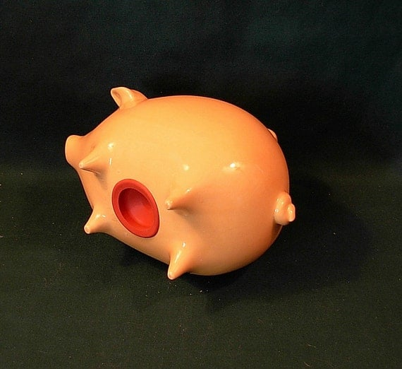 Ceramic Piggy Bank Yellow By Ceramicsbylisa On Etsy