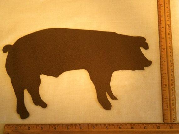 Pig Silhouette Metal Wall Art