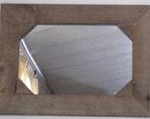 Primitive Old Barnwood Framed Mirror