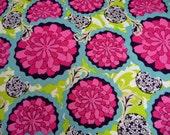 Hot Retro Zinnias Fabric