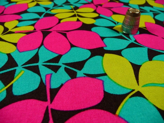 Electric Leaves Fabric