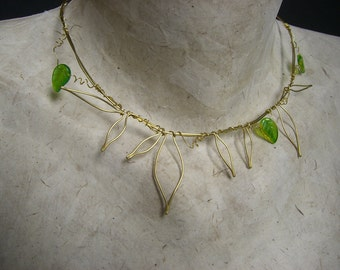 Spring Rites: Song - brass wire necklace