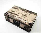 birch bark handmade journal - small wood book - twilight forest