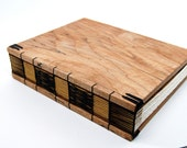 handmade journal - unique  wood book in spalted maple - guest book