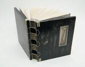 steampunk journal - handmade wood book with skeleton key - Dark Secrets