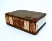 journal handmade wood book - black walnut - gifts for him