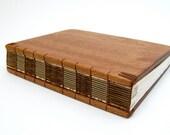 Handmade Journal Mahogany Wood Book Large Rustic
