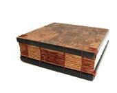 small handmade journal tree bark- wood book - guest book - woodland rustic forest - ready to ship