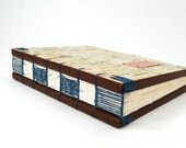 custom birch bark wedding wood guestbook personalized book -- rustic -blue guest book - made to order - ThreeTreesBindery