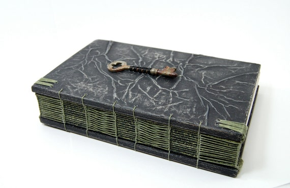 RESERVED for Chris -  deposit for custom steampunk handmade journal with vintage skeleton key- wood book