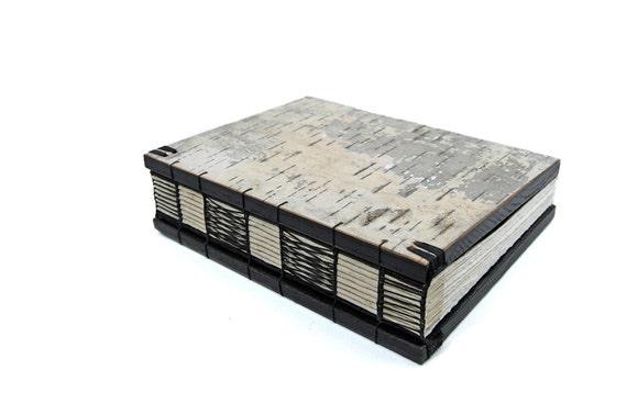 RESERVED for naomi birch bark journal - handmade wood book - medium