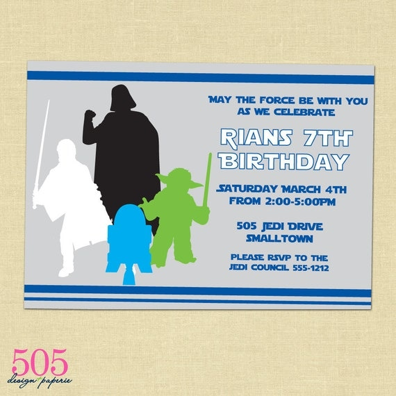 Star Wars Invitations Free Printable Star wars inspired invitation