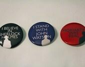 BBC Sherlock Button Trio