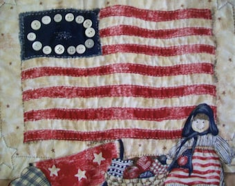 Patriotic Quilted Wall Hanging - A Touch of Americana