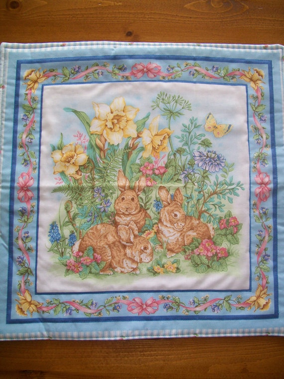 Easter Placemats - Set of 2 - Bunny Family