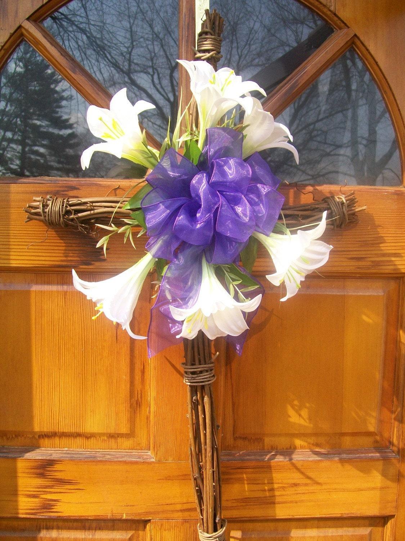 Easter Wreath Easter Morn Grapevine Cross Wreath