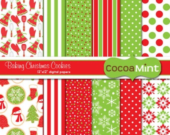 Baking Christmas Cookies Printable Papers
