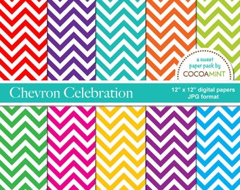 Chevron Celebration Digital Paper Pack