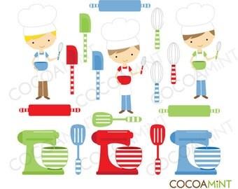 Little Boy Chefs Clip Art