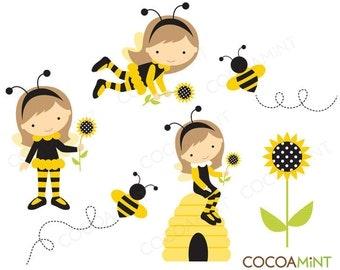 Bee Girl Clip Art