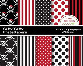 Yo Ho Yo Ho Pirate Digital Papers