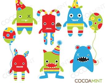 Mini Monster Party Clip Art