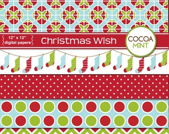 Christmas Wish Digital Papers