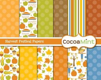 Fall Harvest Festival Digital Papers