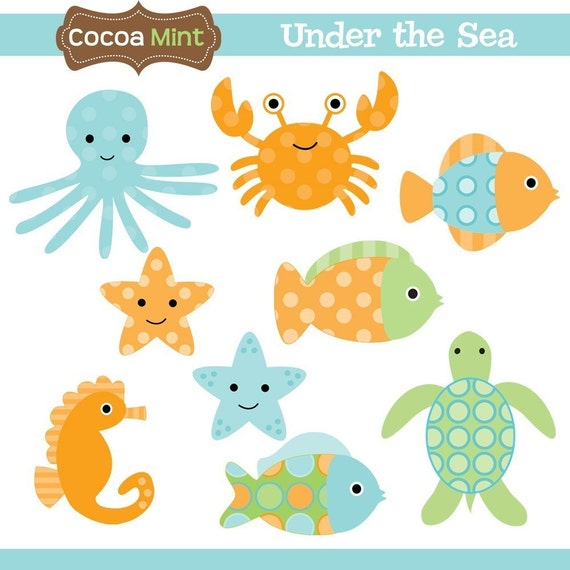 Under the Sea Clip Art by cocoamint on Etsy