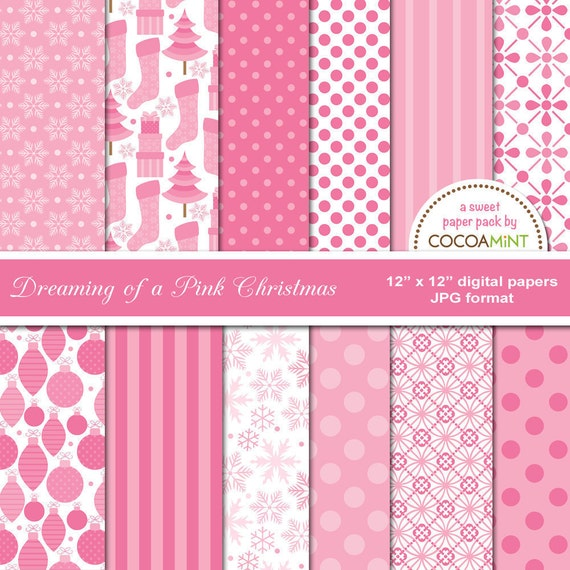 Dreaming of a Pink Christmas Paper Pack