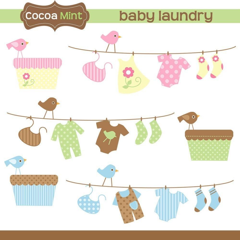 Baby Laundry Clip Art