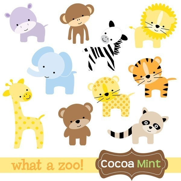 Go Back > Gallery For > Baby Zoo Animal Clipart