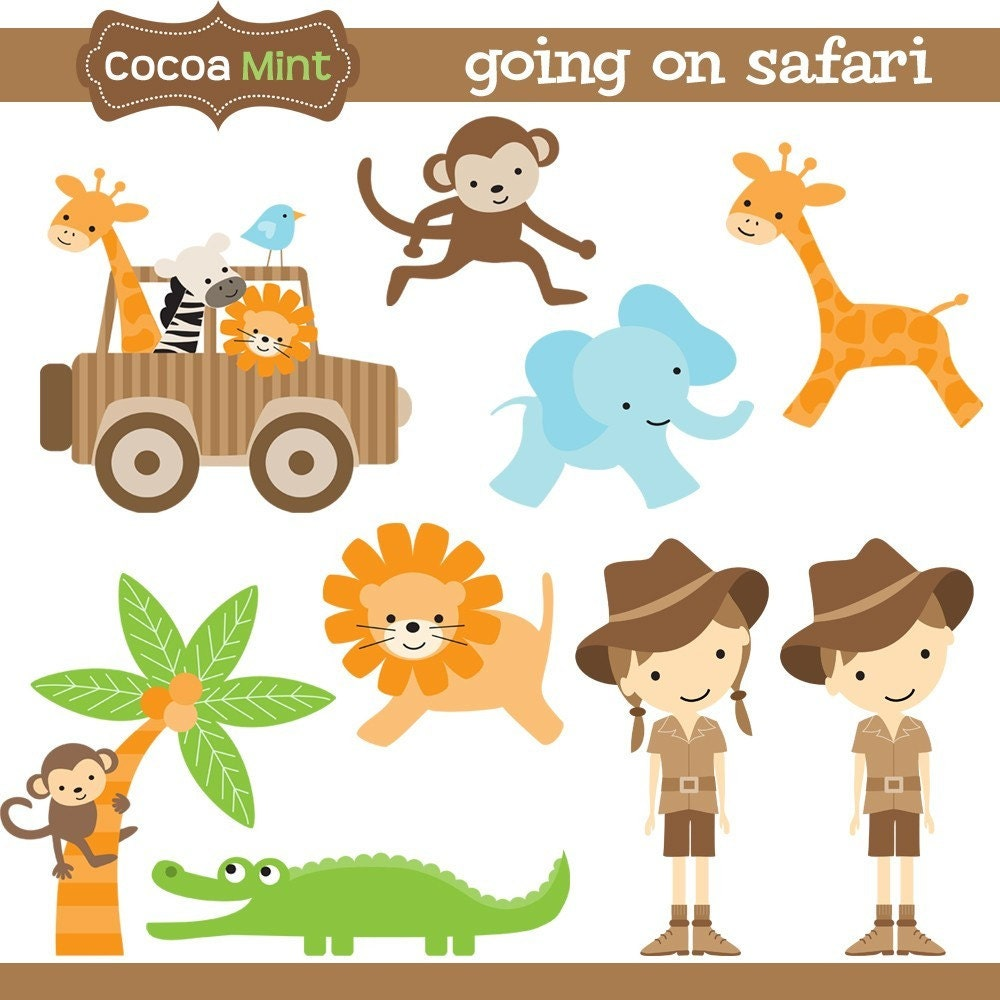 clipart jungle safari - photo #20